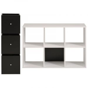 Meuble 6 cases blanc comparer 64 offres for Meuble 6 cases blanc