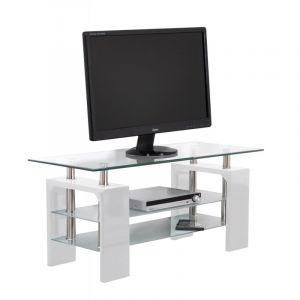 Plateau verre trempe 60 x 110 comparer 45 offres for Meuble tv 110 cm design