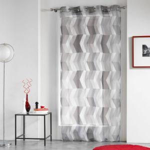 rideau a oeillets noir et blanc comparer 457 offres. Black Bedroom Furniture Sets. Home Design Ideas