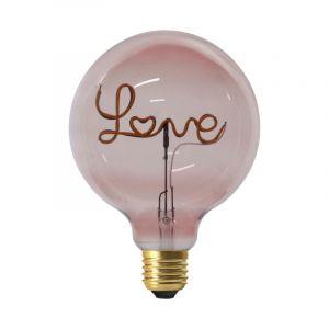 """Ampoule G125 Filaments LED """"Love"""" 4W Rose - Paris Prix"""