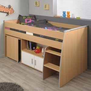 lit combine avec bureau et rangement comparer 61 offres. Black Bedroom Furniture Sets. Home Design Ideas