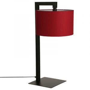 """Lampe à Poser """"Suspendu"""" 72cm Noir & Rouge - Paris Prix"""
