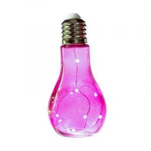"""Lampe à Led """"Ampoule"""" 18cm Fuschia - Paris Prix"""
