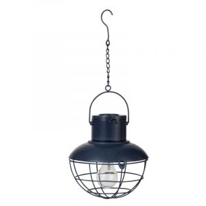 "Lampe Suspension à Led en Métal ""Moa"" 23cm Bleu - Paris Prix"