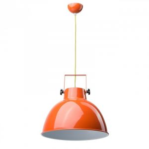 "Lampe Suspension ""Pop"" 40cm Orange - Paris Prix"