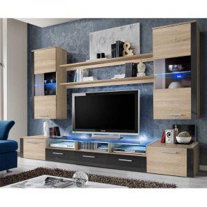 meuble tv 250 cm comparer 113 offres. Black Bedroom Furniture Sets. Home Design Ideas