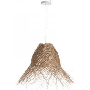 """Lampe Suspension en Osier """"Coco"""" 70cm Naturel - Paris Prix"""