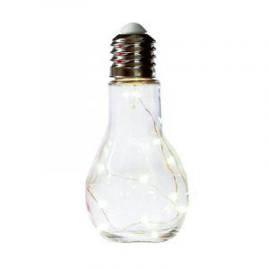 """Lampe à Led """"Ampoule"""" 18cm Transparent - Paris Prix"""