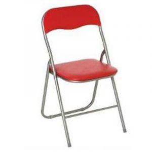 chaise pliante metal rouge comparer 48 offres. Black Bedroom Furniture Sets. Home Design Ideas