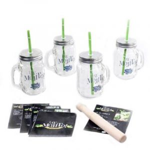 "Coffret à cocktails ""Mojito"" 35cm Transparent - Paris Prix"