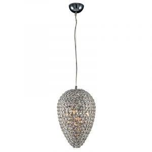 """Lampe Suspension Cristal """"Gandia"""" 23cm Transparent - Paris Prix"""