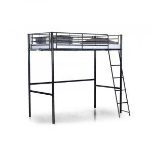 lit mezzanine 140 190 comparer 64 offres. Black Bedroom Furniture Sets. Home Design Ideas