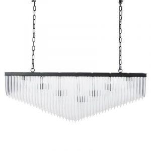 """Lustre Suspension 14 Ampoules """"Buch"""" 122cm Transparent - Paris Prix"""