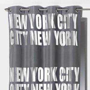 "Rideau Occultant """"New York Silver"""" 140x260cm Gris"""