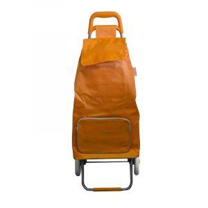 Chariot de Marché Pliable Orange - Paris Prix