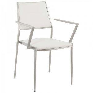 Chaise Design Inox Blanc - Paris Prix