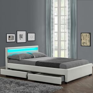 lit adulte avec tiroirs 140 x 190 comparer 38 offres. Black Bedroom Furniture Sets. Home Design Ideas