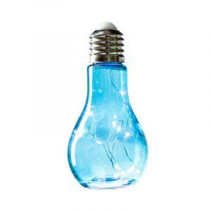"""Lampe à Led """"Ampoule"""" 18cm Turquoise - Paris Prix"""