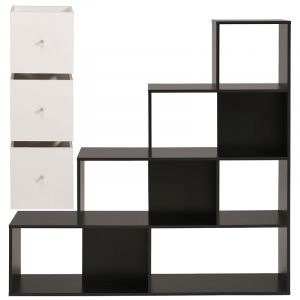 meuble 9 cases blanc comparer 35 offres. Black Bedroom Furniture Sets. Home Design Ideas