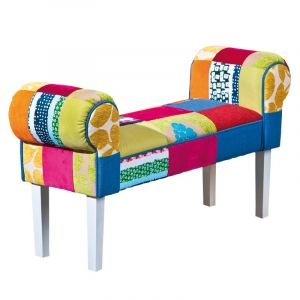 "Banc Patchwork ""Aquarelle"" Multicolore - Paris Prix"