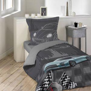 housse de couette gris lit 90 comparer 57 offres. Black Bedroom Furniture Sets. Home Design Ideas