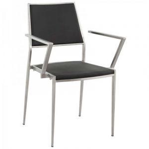 Chaise Design Inox Noir - Paris Prix