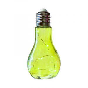 """Lampe à Led """"Ampoule"""" 18cm Vert Anis - Paris Prix"""
