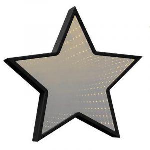 """Miroir LED Etoile """"Infini"""" 27x29cm Noir - Paris Prix"""