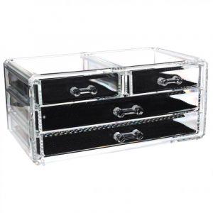 boite de rangement plastique 4 tiroirs comparer 36 offres. Black Bedroom Furniture Sets. Home Design Ideas