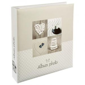 """Album 500 Photos """"Papillon"""" 32x33cm Beige - Paris Prix"""