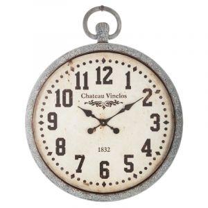 """Horloge Vintage """"""""Garden"""""""" 75cm Gris - Paris Prix"""""""