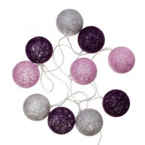 """Guirlande Led """"10 Boules"""" 165cm Violet - Paris Prix"""