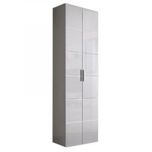 "Armoire 2 Portes Design ""Krone"" 80cm Blanc - Paris Prix"