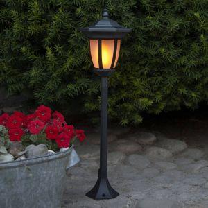 Lampe solaire LED Flame, 4 en 1, noir