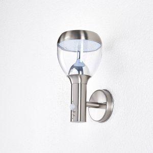 Applique d'extérieur LED Ettan en inox à détecteur