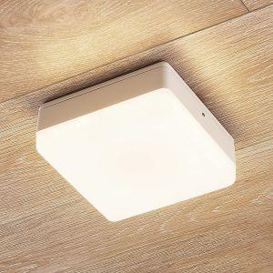 Plafonnier LED Thilo IP54 blanc, 16cm, capteur TL