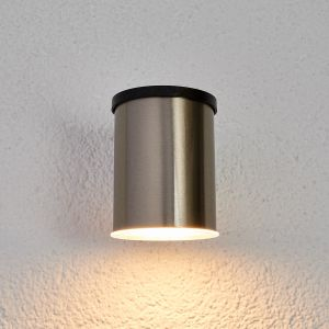 Applique solaire LED Tyson, ronde, transparent