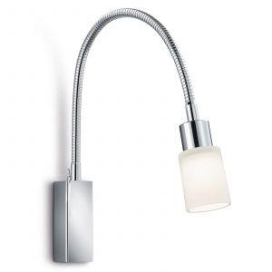 Applique LED Poseidon flexible aspect chromé