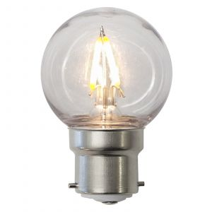 Ampoule LED B22 G45 1,3 W, transparent, IP60