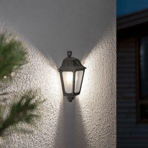 Applique LED Iesse noire, résiste eau de mer