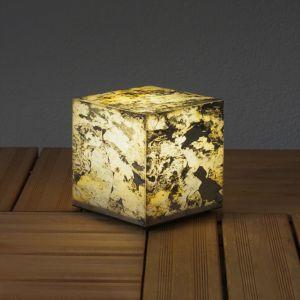 Cube lumineux décoratif en schiste naturel 19 cm