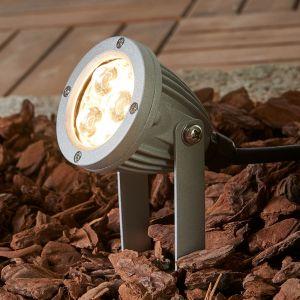 Spot LED à planter Sendling en alu moulé