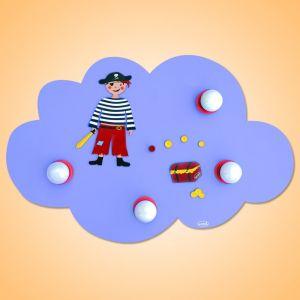 Plafonnier Pirate style nuage à 4 lampes