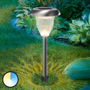 Lampe solaire LED Flower Light, fonction Duo Color