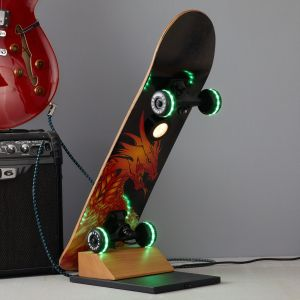 Lampe à poser LED Skateboard Easy Cruiser Dragon