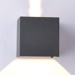 Applique d'extérieur LED Davos angulaire, gris