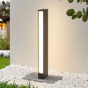 Borne lumineuse LED Lirka, gris foncé, 2 lampes