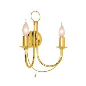 Applique Retro, à 2 lampes, dorée