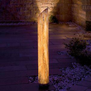 Colonne LED lumineuse Sahara avec grès, 80cm