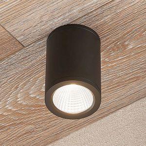 Downlight LED Embla en aluminium LED, gris foncé